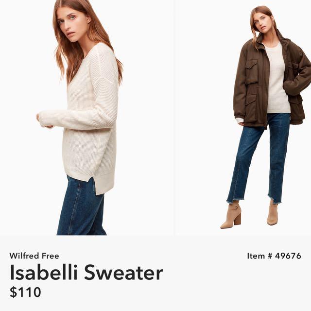 "ARITZIA Wilfred Free ""Isabelli Sweater"""