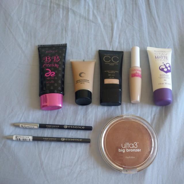 Assorted Foundation/Primer/Eyeliner/Bronzer