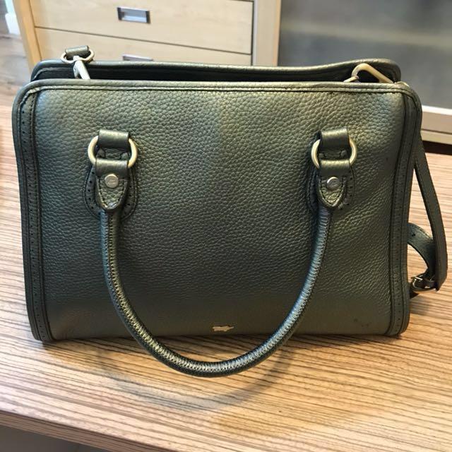 Authentic Braun Buffel leather handbag #midjan55