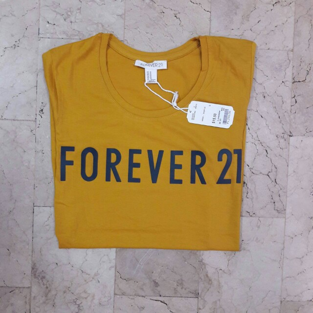 Authentic F21 Mustard Ladies Tees
