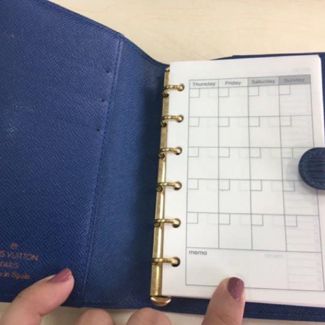 Authentic Louis Vuitton lv agenda wallet
