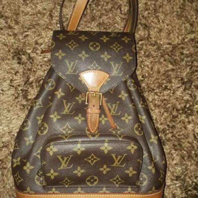Authentic lv louis vuitton montsouris backpack bag