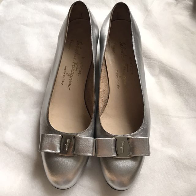 Authentic SF silver heels