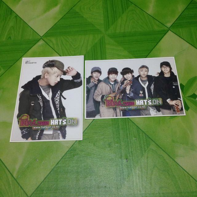 B1A4 ENDORSE HAT'S ON OFFICIAL POSTCARD