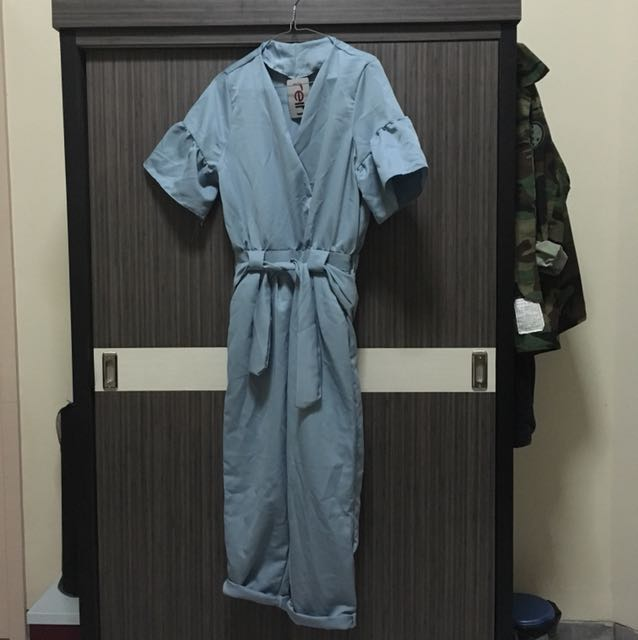 Baby blue jumpsuit (all size)