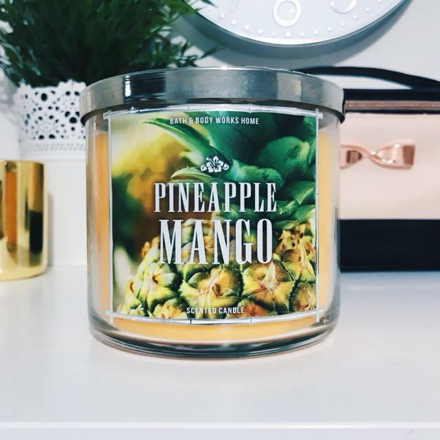 Bath & Body Works Pineapple Mango 3-Wick Candle