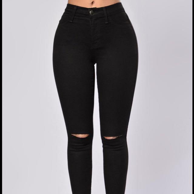 Black Fashion Nova Canopy Jeans