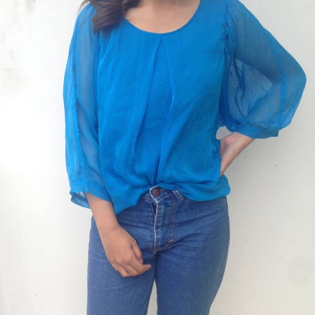 Blue Casual Top