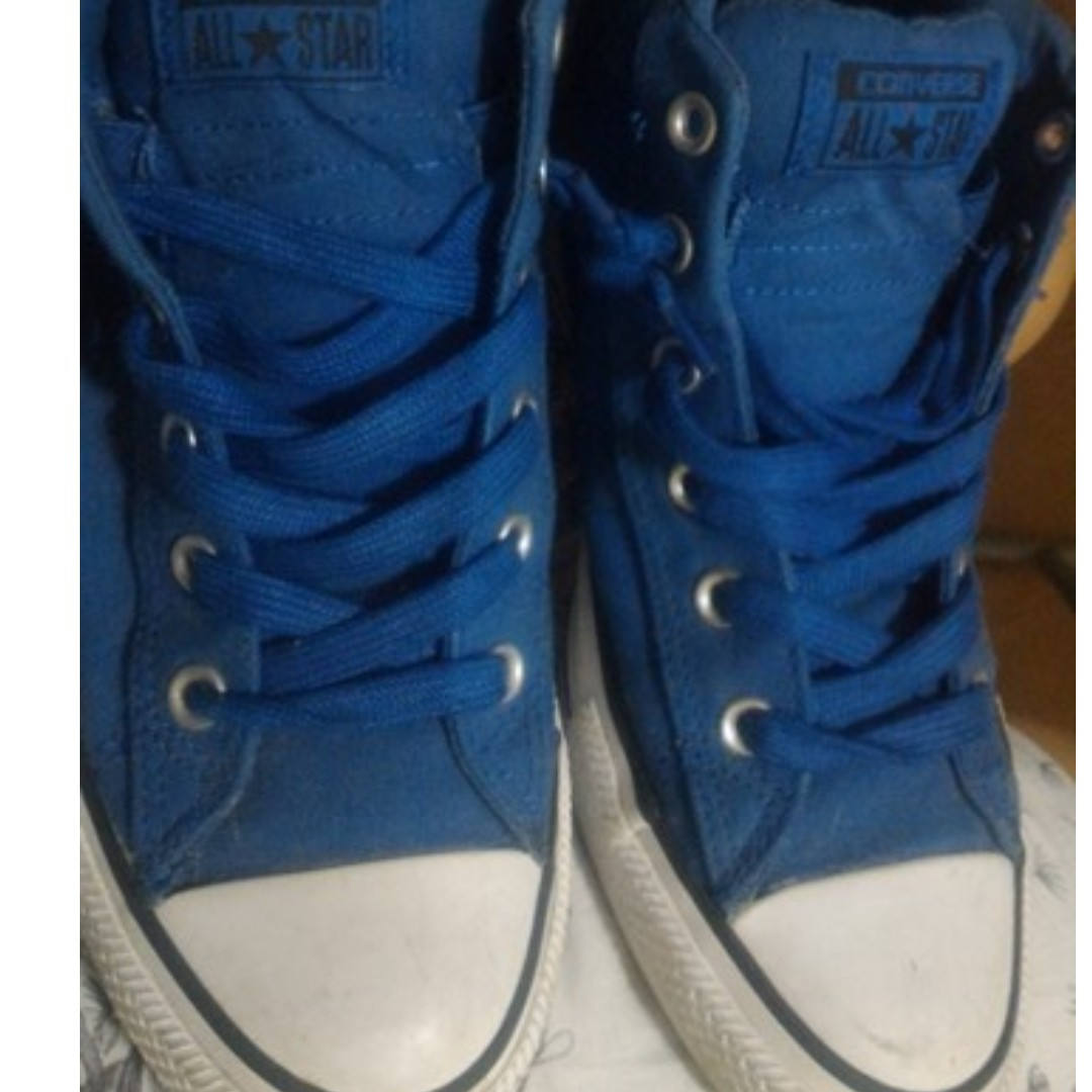 Blue Converse All Star Midcut Shoes (Chuck Taylor)