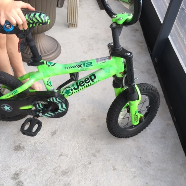 Boys Bike comes with training wheels