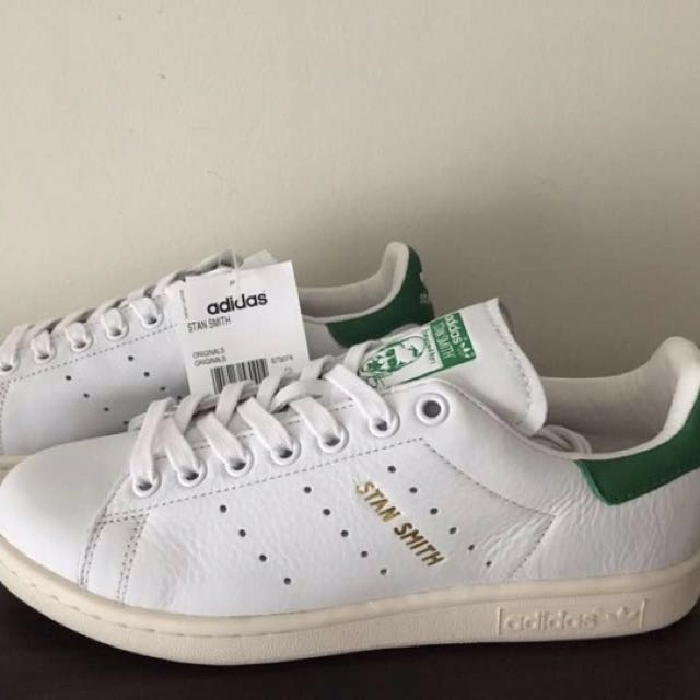 BRAND NEW & AUTHENTIC ADIDAS Stan Smith OG Green Tab Gold Foil Yellow Sole, Women's Fashion, Shoes on Carousell