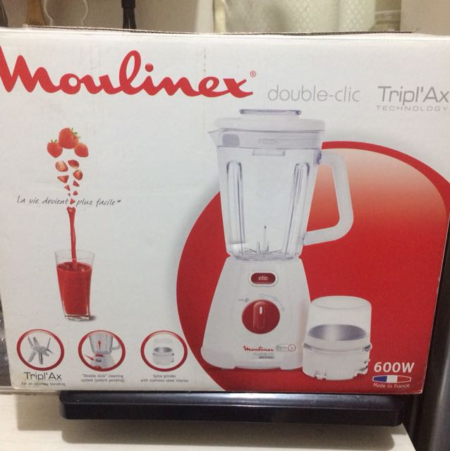 ndnew! Moulinex Double Clic Blender, Kitchen & Appliances on ... on kitchen aid stove, kitchen aid fan, kitchen aid valves, kitchen aid kettle, kitchen aid coffee maker, kitchen aid scraper, kitchen aid cooktop, kitchen aid can opener, kitchen aid chopper, kitchen aid grinder, kitchen aid juicer, kitchen aid cookware, kitchen aid oven, kitchen aid colander, kitchen aid freezer, kitchen aid food, kitchen aid cooker, kitchen aid blender, kitchen aid toaster, kitchen aid measuring spoons,