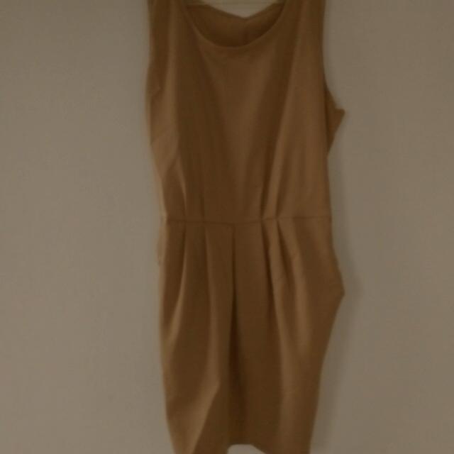 Brown Drapery Dress