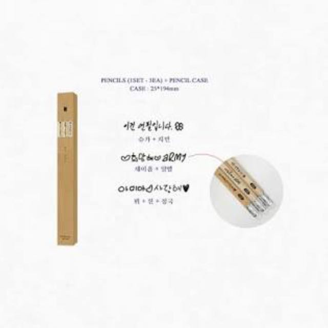BTS Seasons Greeting 2018 Pencils