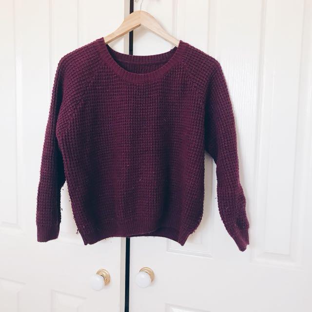 Burgundy Knitwear Sweater