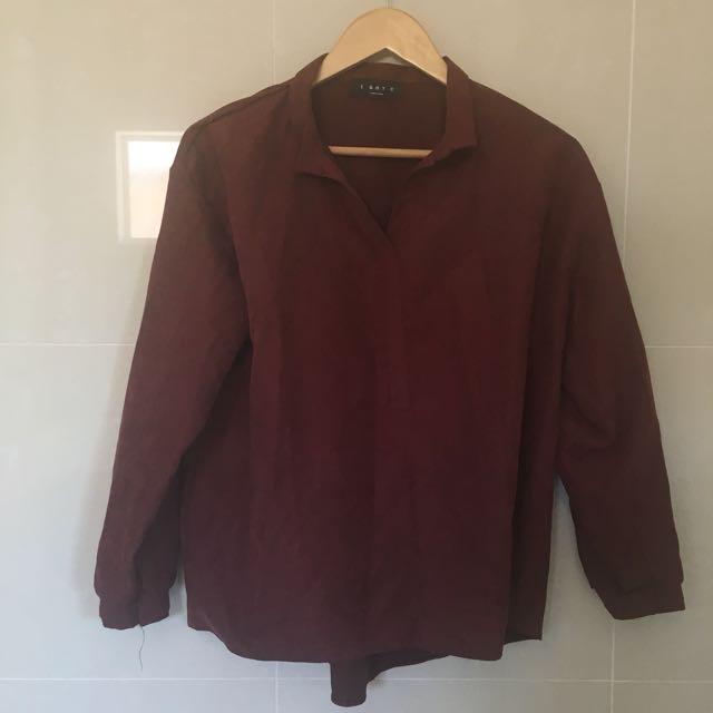 Burgundy maroon shirt