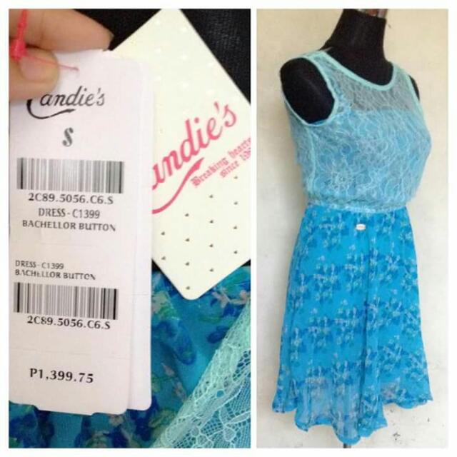 Candie's Floral Blue Dress