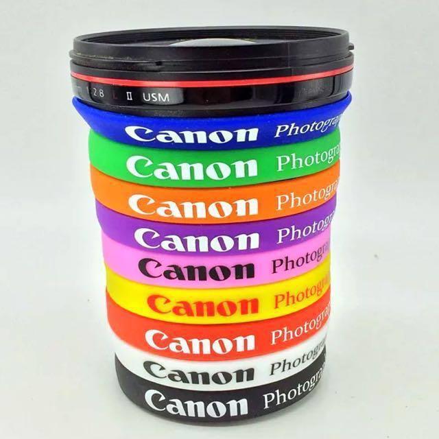 Canon Logo Silicone Lens Band Wrist Band