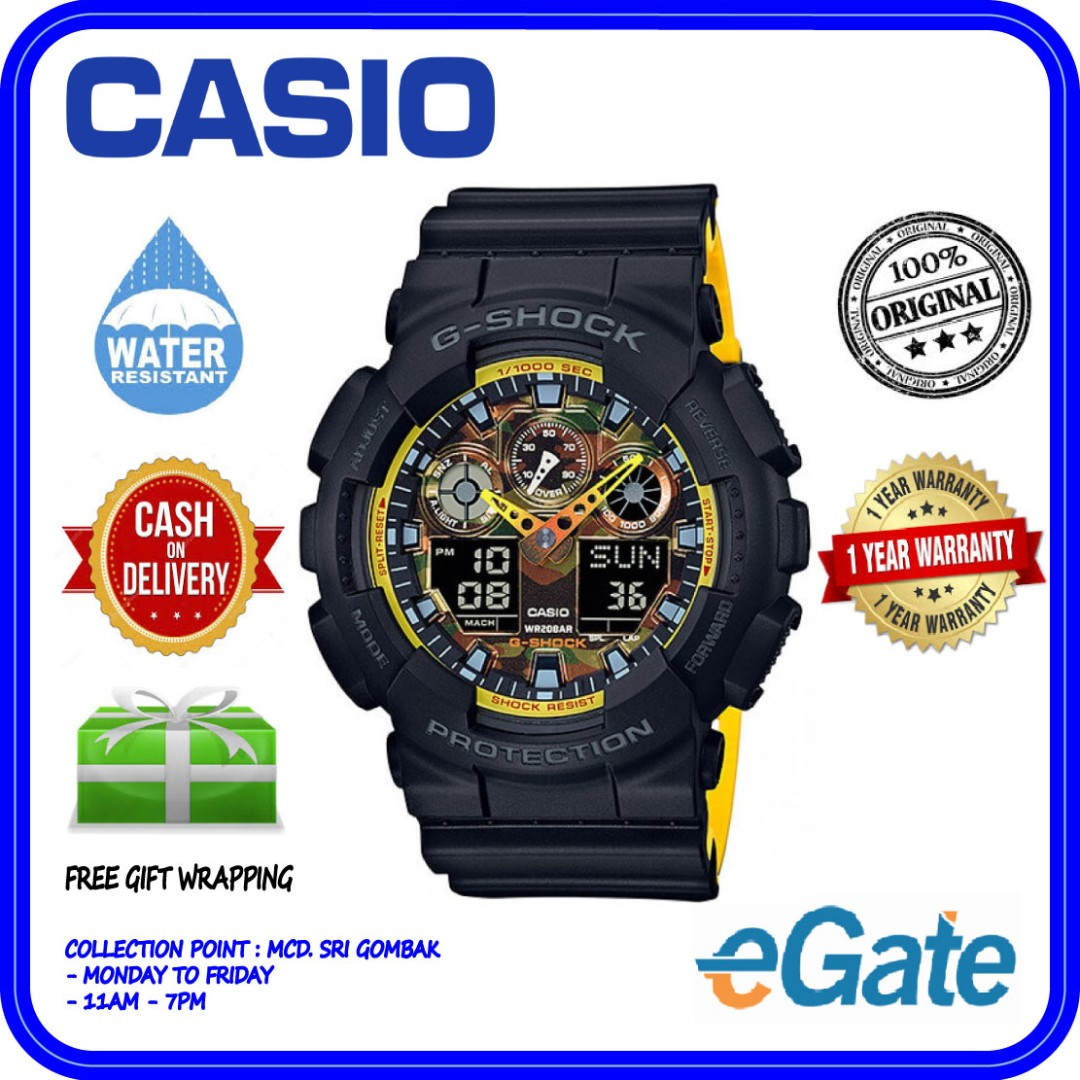 361c412383f Casio G-Shock GA-100BY-1A Men Analog Digital Sporty Special Color ...