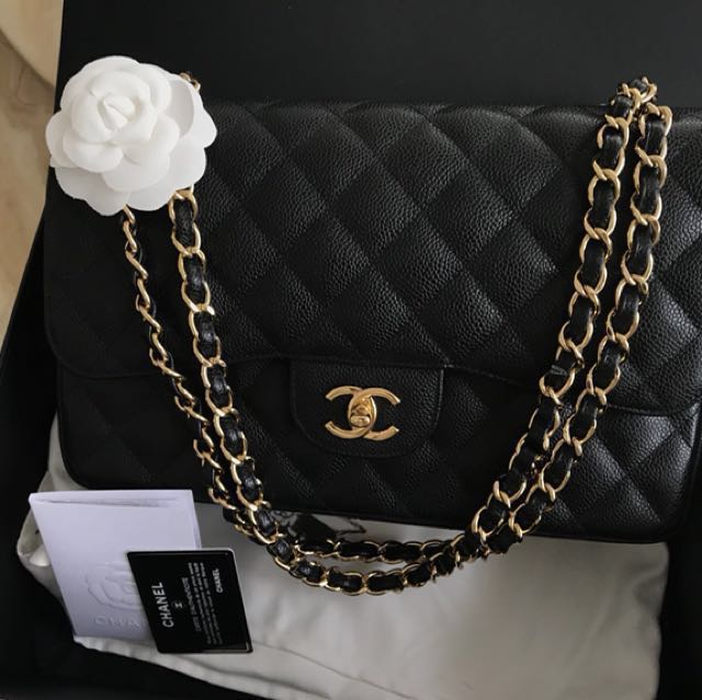 114f183b0c6e Chanel Classic Double Flap Jumbo w Gold Hardware