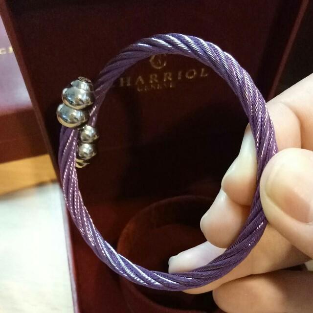 Charriol Inspired Celtic Bangle Purple Stainless Steel Gift set