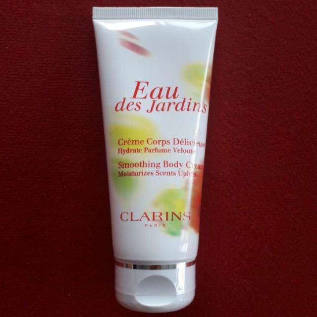 Clarins Eau des Jardins Smoothing Body Cream 100ml (moisturizes scents uplifts)