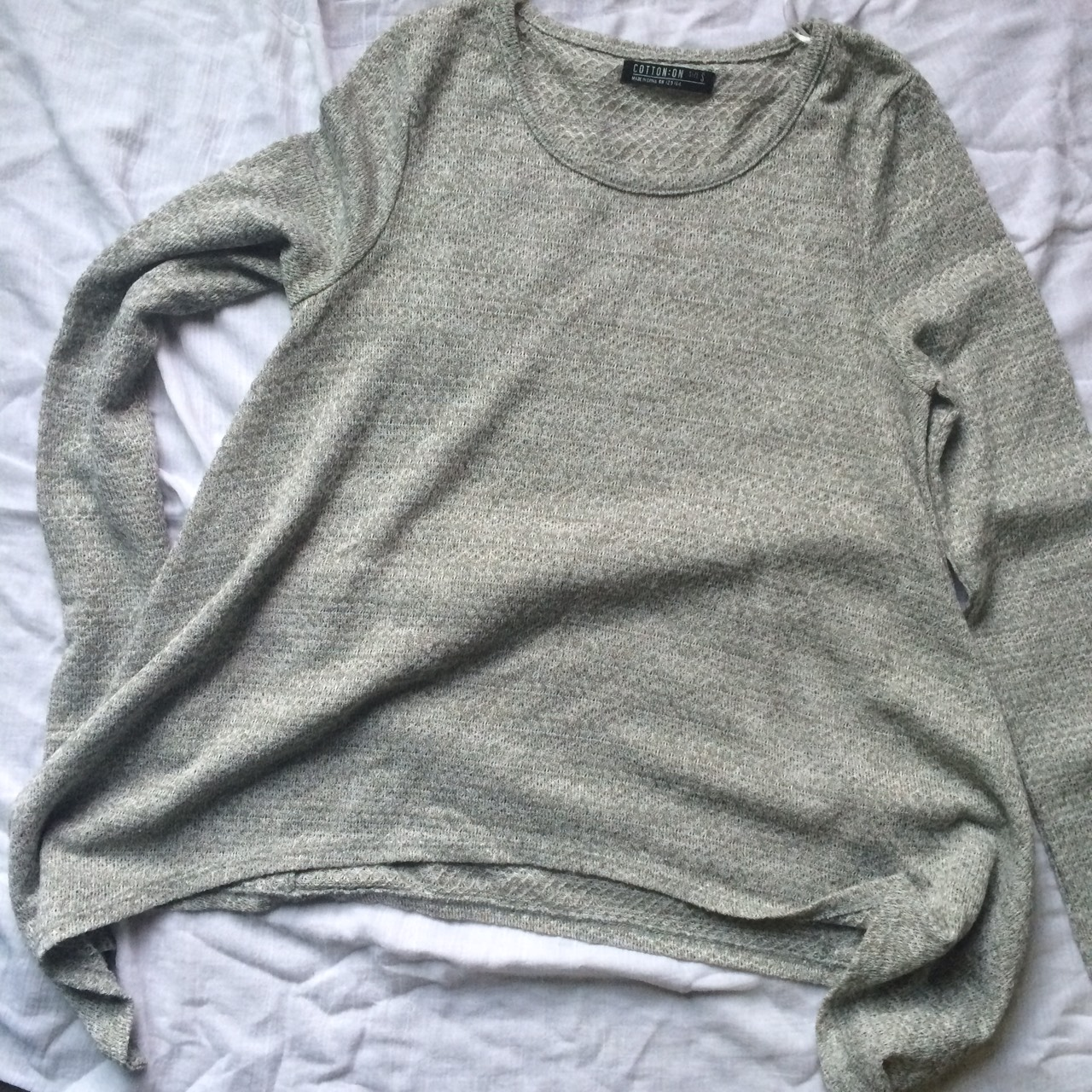 COTTON ON Long Sleeve Grey Top