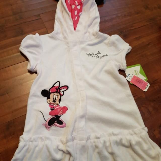 Disney Minnie mouse swim robe 3T