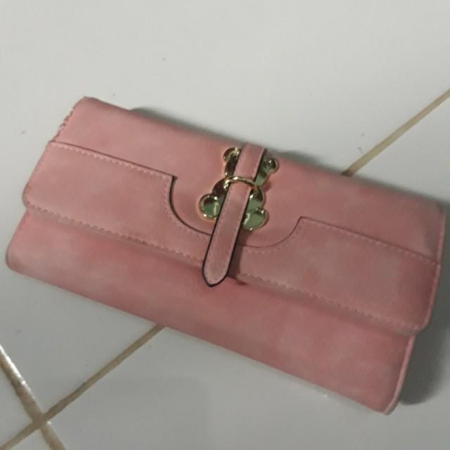 Dompet lutece pink cantik