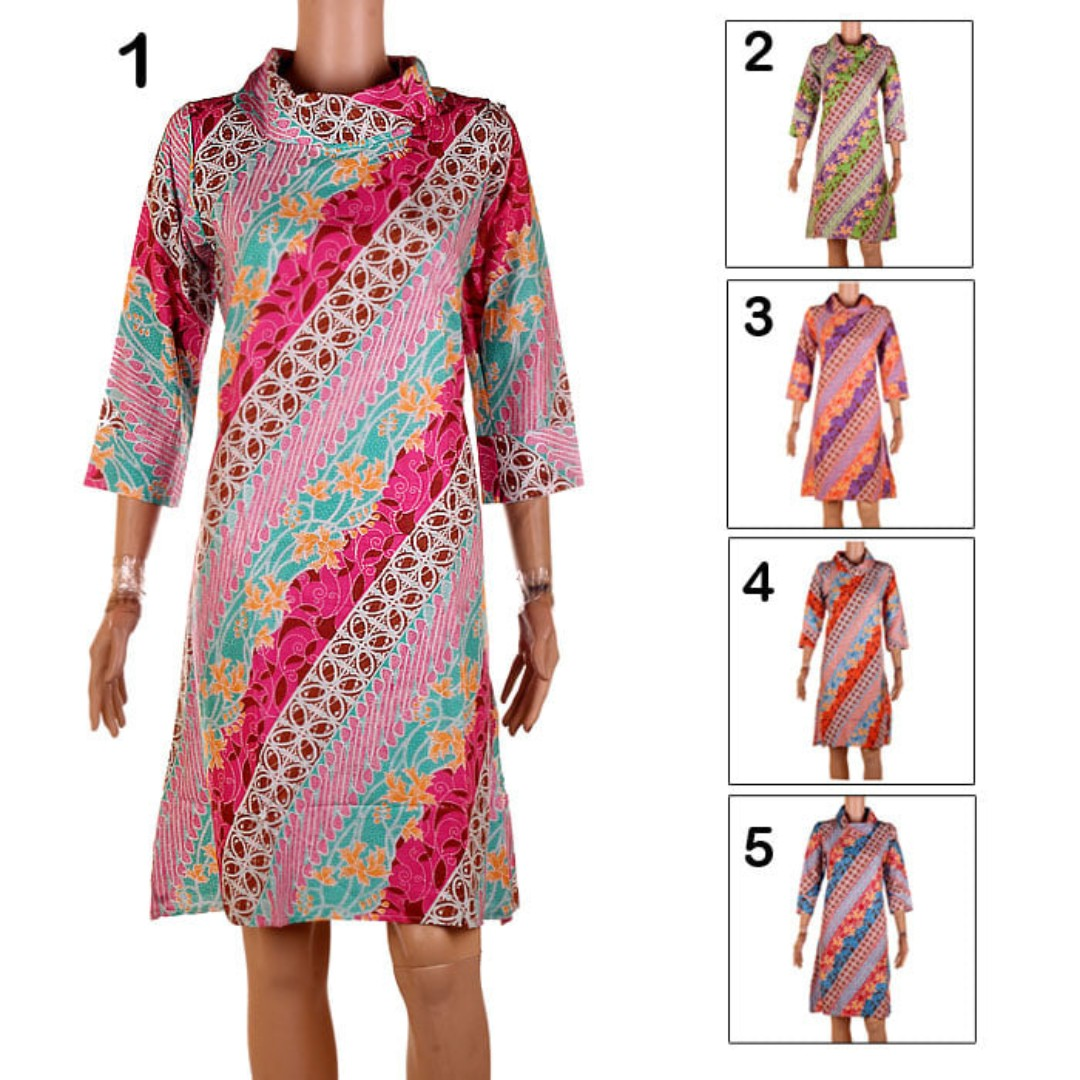 Dress Batik Blus Tunik Tami. Berat 250gr.