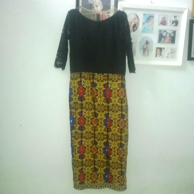 Dress kebaya panjang size M-L