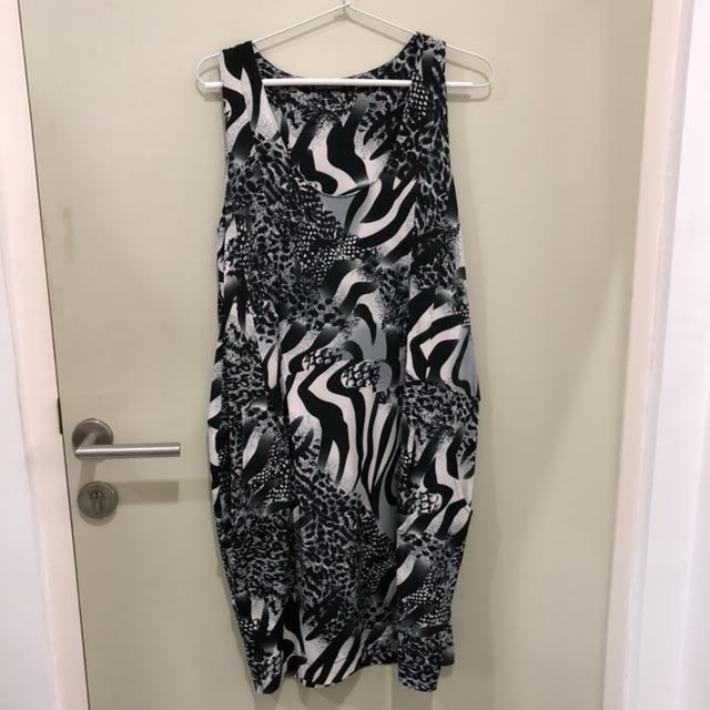 Dress Midi Corak Leopard