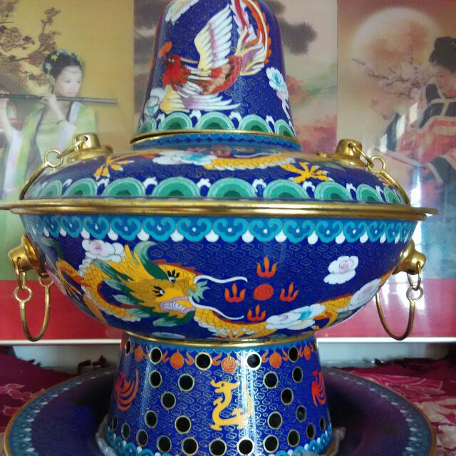 Extremely Heavy Cloisonne Display Piece From Beijing