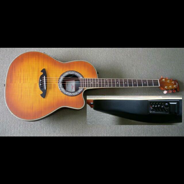 Fina Semi Acoustic Guitar Roundback FR92CEQ CLEARANCE OFFER LESS 20%
