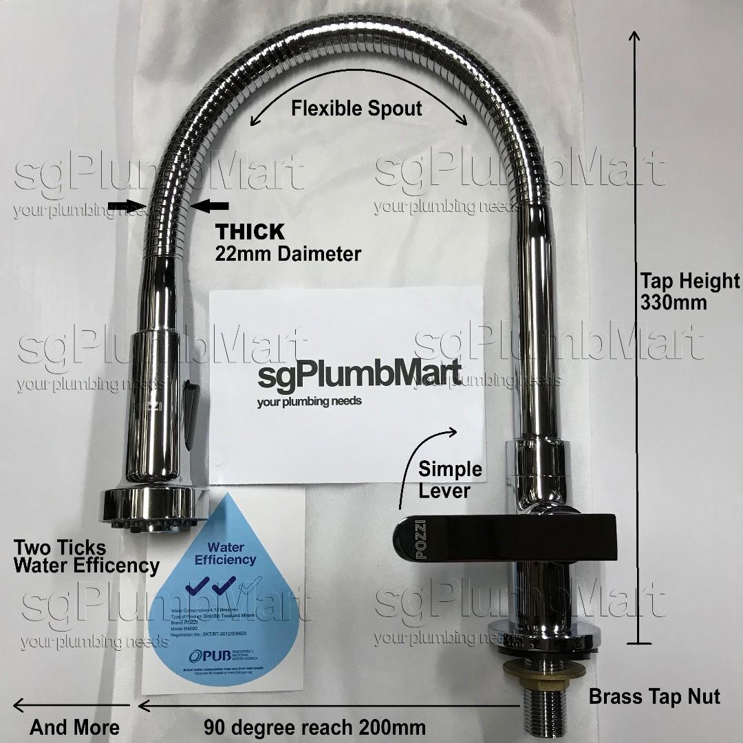 Flexible Kitchen Sink Tap Heavy Duty, Home Appliances on Carousell