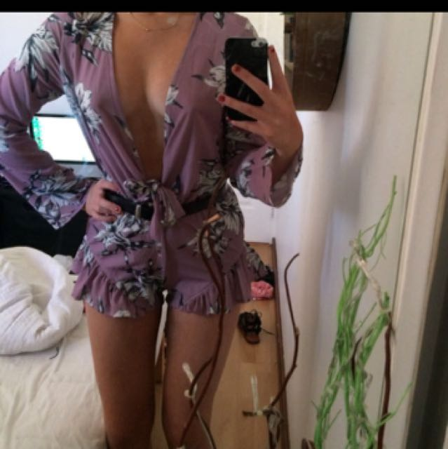 Floral playsuit brand new
