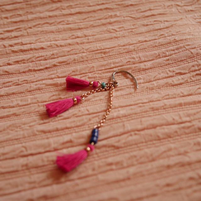 FOSSIL tassel dangle earring (single)