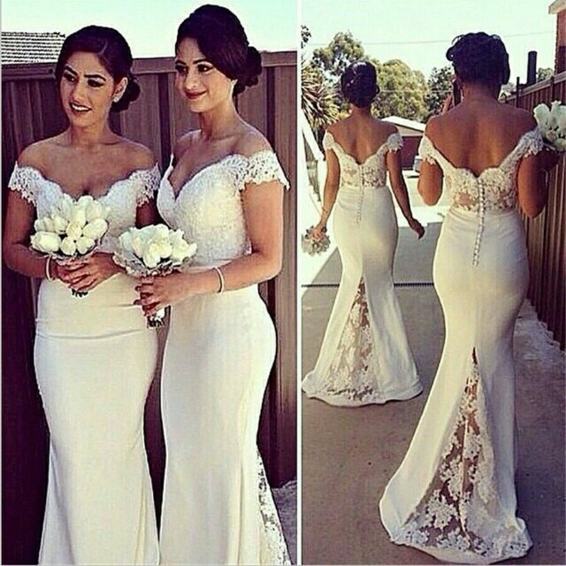 *FREE DELIVERY to WM only / Pre order 12-15 days* Ladies long lace bridesmaid dress each as design/color. Free delivery is applied for this item.