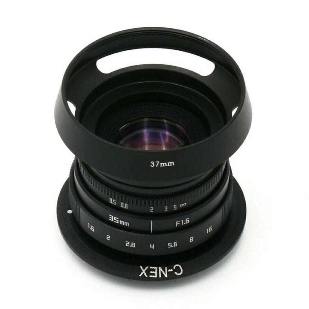 Fujian CCTV Lens 35mm f 1.6 + Fujifilm Adaptor + Lengkap