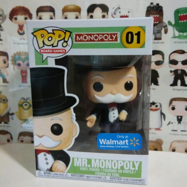 Funko Pop Mr Monopoly Walmart Exclusive Vinyl Figure Collectible Toy Gift Board Games