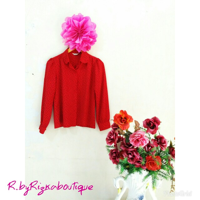 Ghania Red Blouse