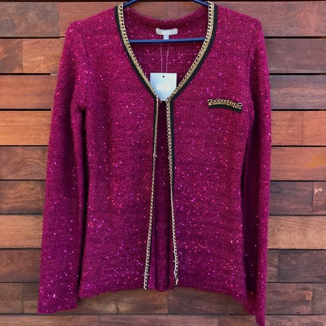 GRACE Beaded knitted cardigan size 8