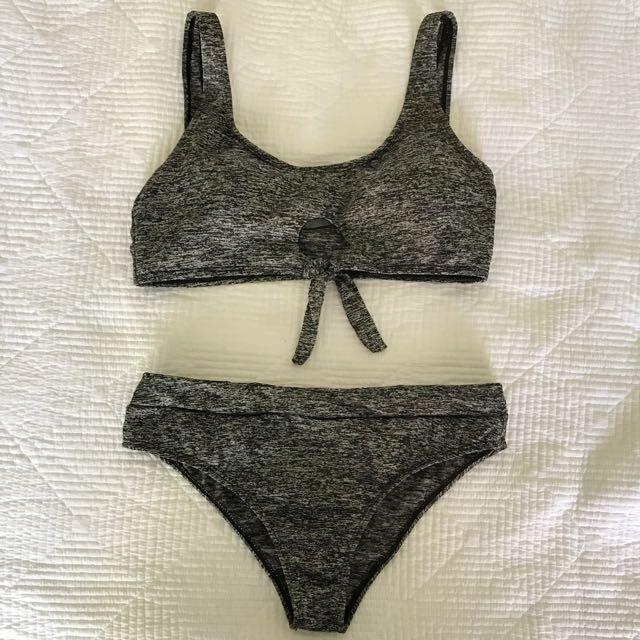 Grey/black Bikini