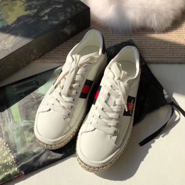 Gucci Ace sneaker with crystals