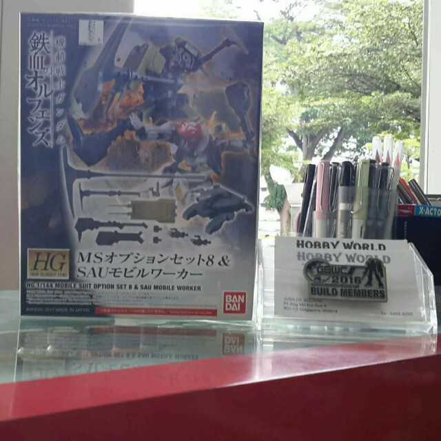 HG IBO 1/144 Mobile Suit Option Set 8 & SAU Mobile Worker snsn