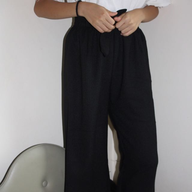 High Waisted Black Pant Trousers