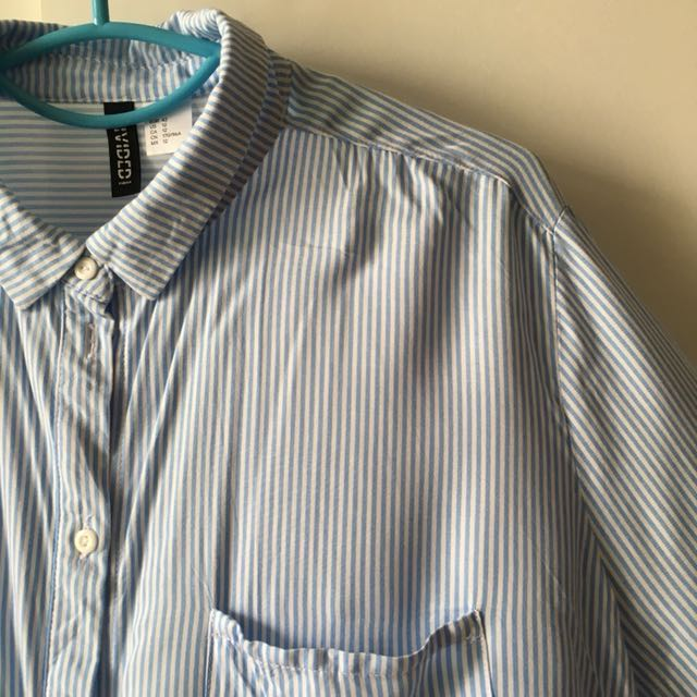 H&M Divided Stripe Blouse Shirt