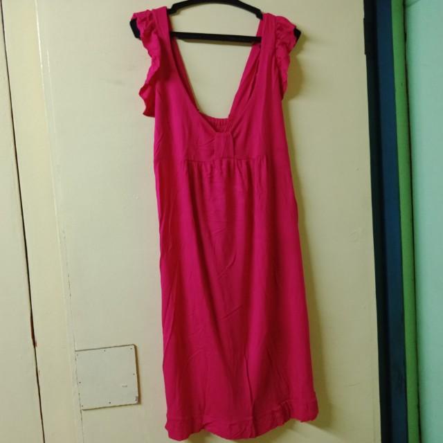 Hot Pink Stretchable dress