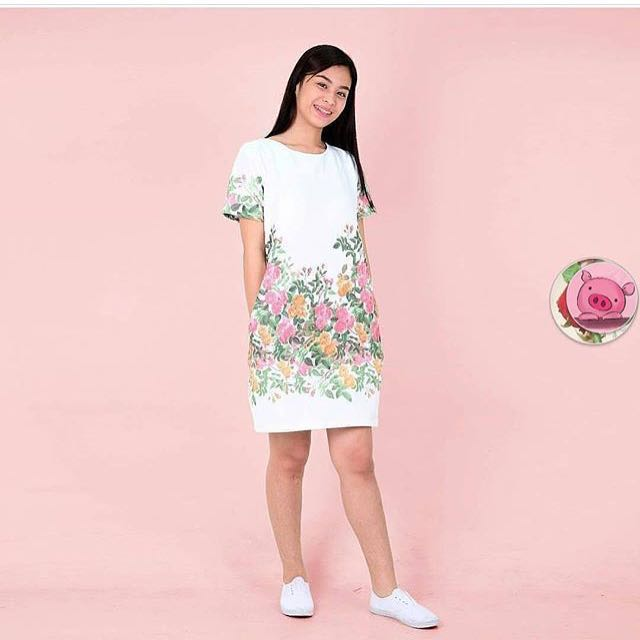 HTP senepa white shift dress