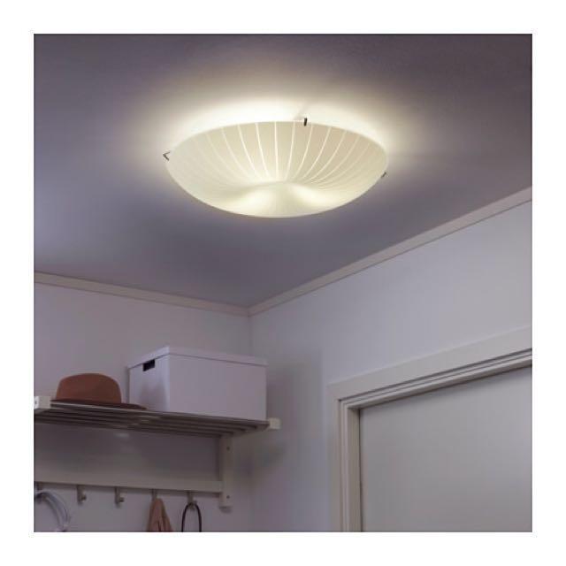 Ikea CALYPSO 吸頂燈 霧面玻璃材質 燈罩